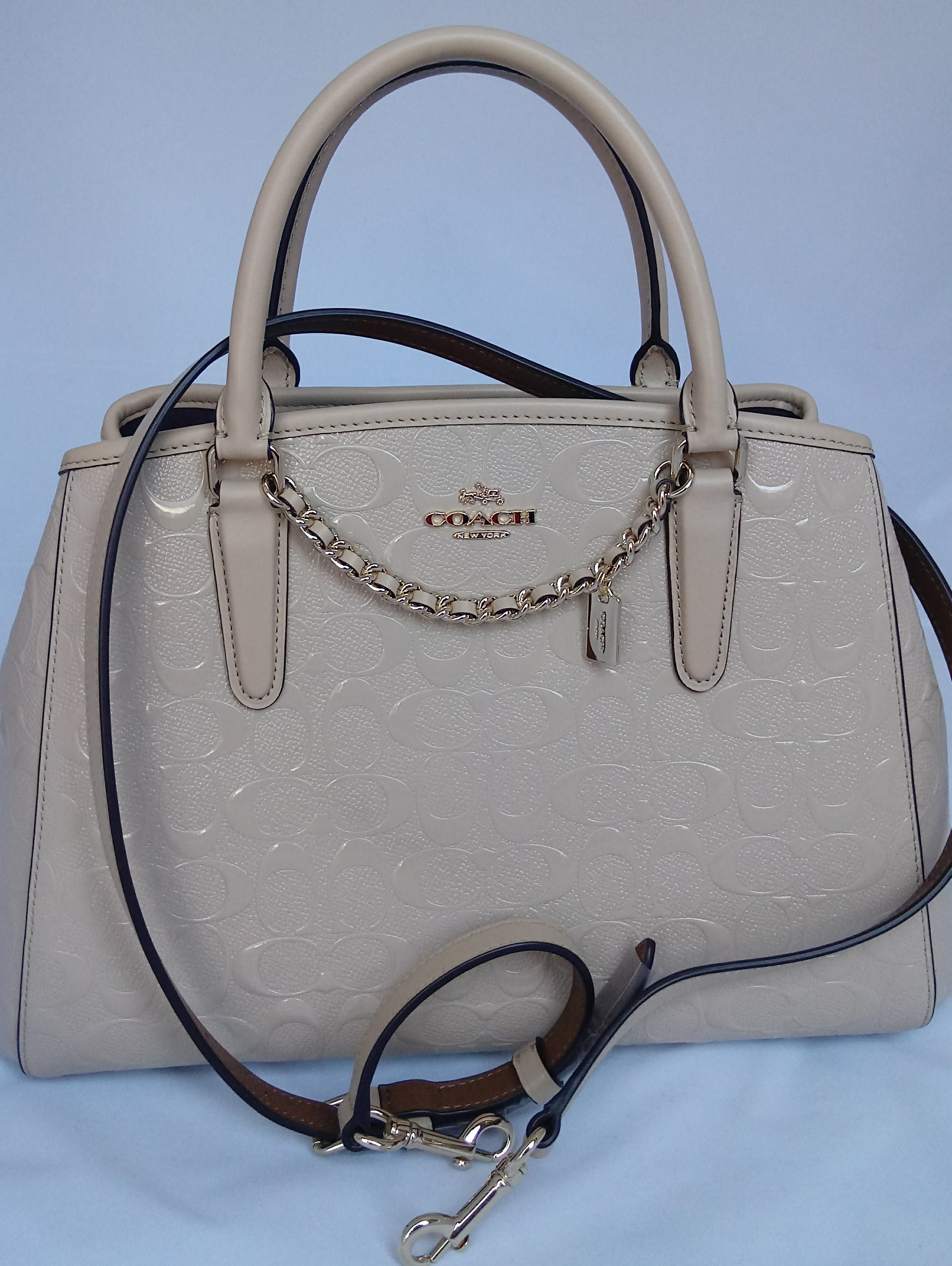 783a390a13d5 Small Margot Carryall in Signature Debossed Patent Leather - Sofia Femmè